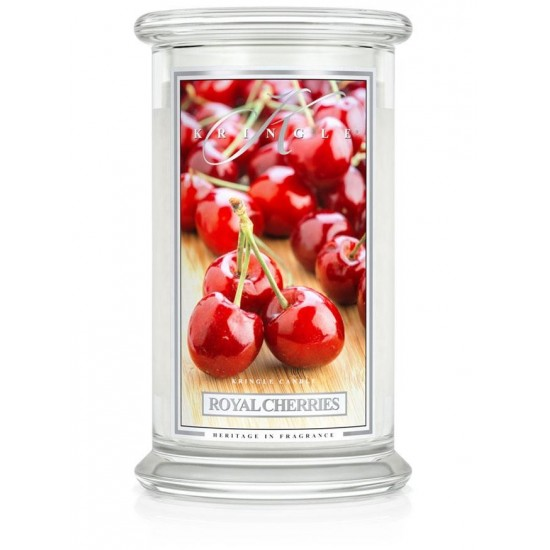 Duża świeca Royal Cherries Kringle Candle