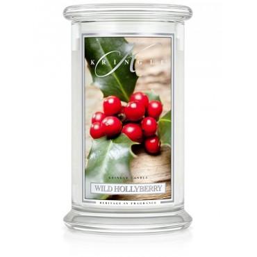 Duża świeca Wild Hollyberry Kringle Candle