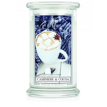 Duża świeca Cashmere & Cocoa Kringle Candle