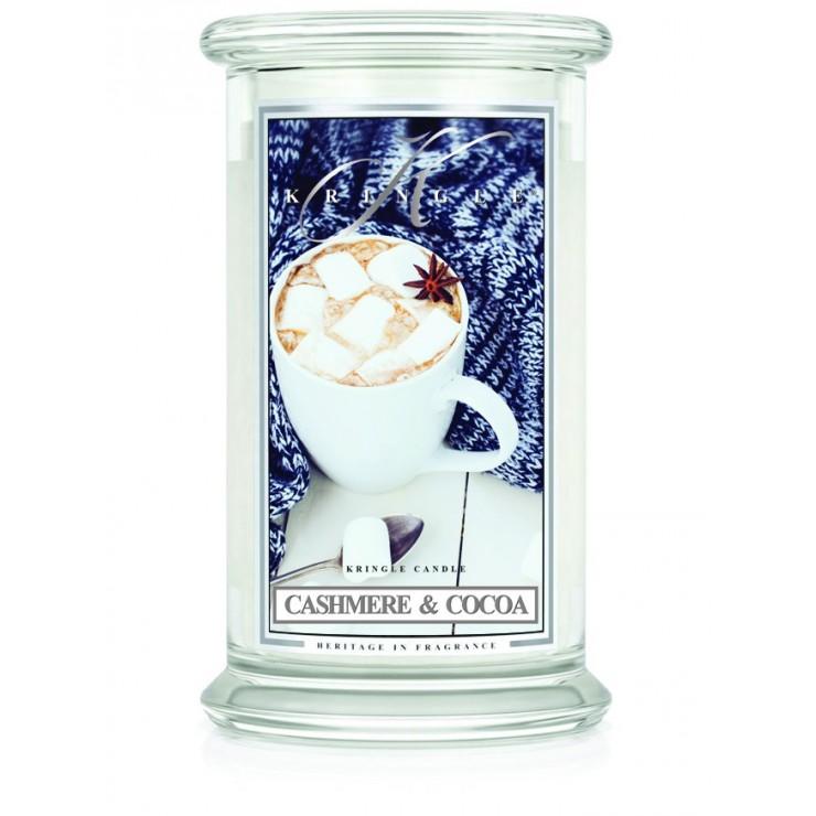 Duża świeca Cashmere & Cocoa Kringle Candle