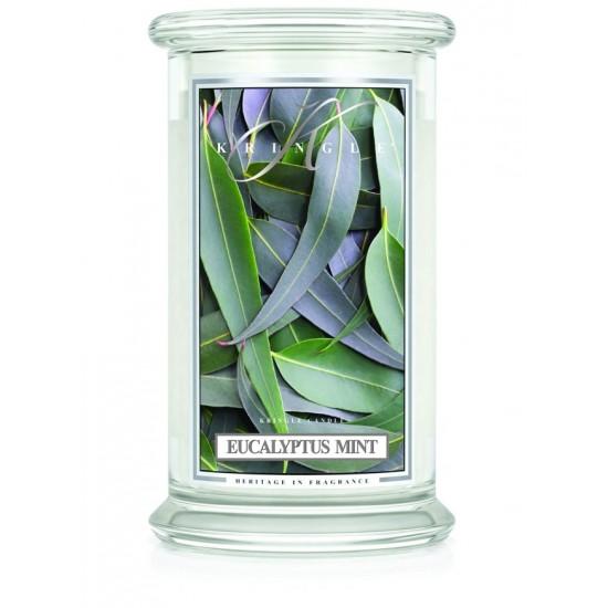 Duża świeca Eucalyptus Mint Kringle Candle