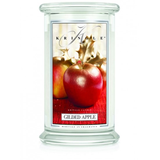 Duża świeca Gilded Apple Kringle Candle