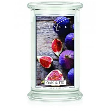 Duża świeca Oak & Fig Kringle Candle