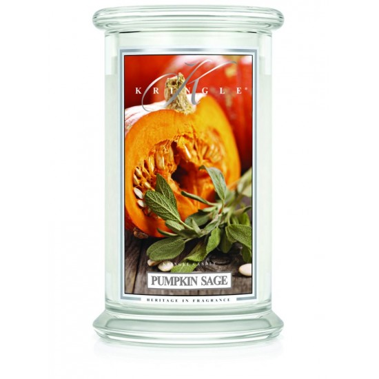 Duża świeca Pumpkin Sage Kringle Candle