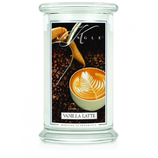 Duża świeca Vanilla Latte Kringle Candle