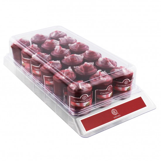 Sampler Votive Cranberry Cosmo Colonial Candle