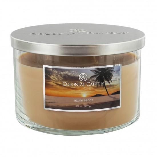 Średnia świeca Azure Sands Colonial Candle (3 knoty)
