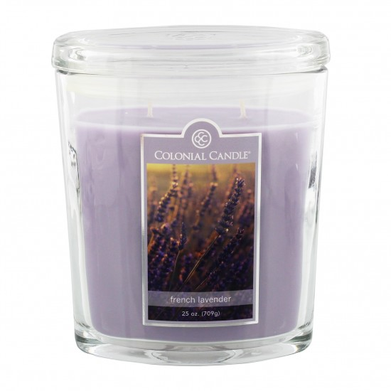 Duża świeca French Lavender Colonial Candle