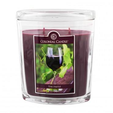 Duża świeca Fine Merlot Colonial Candle