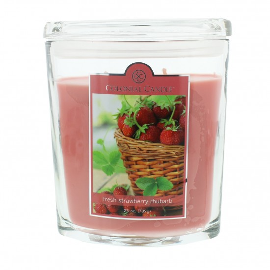Duża świeca Fresh Strawberry Rhubarb Colonial Candle