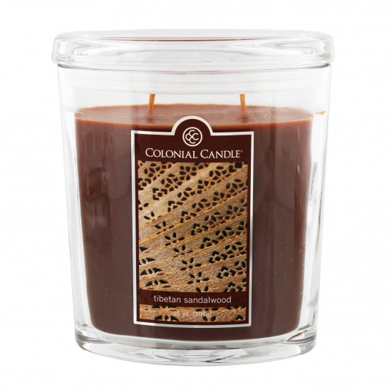Duża świeca Tibetan Sandalwood Colonial Candle
