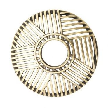 Crosshatch Brass - nakładka na słoik