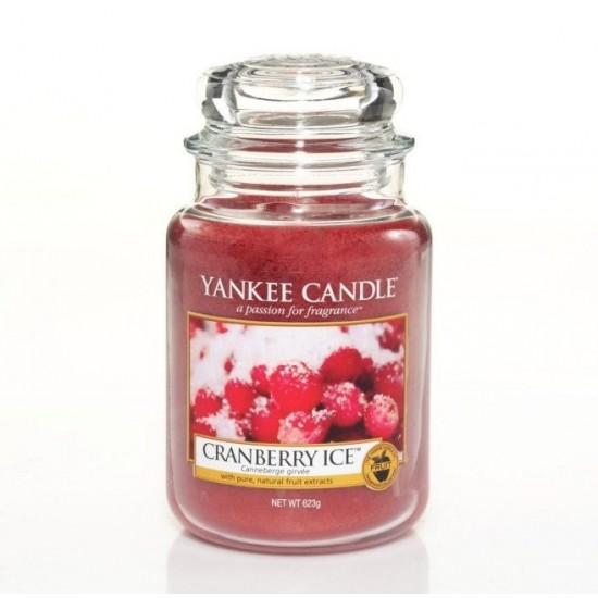 Duża świeca Cranberry Ice Yankee Candle