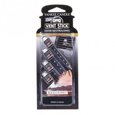 Car vent stick Black Coconut Yankee Candle