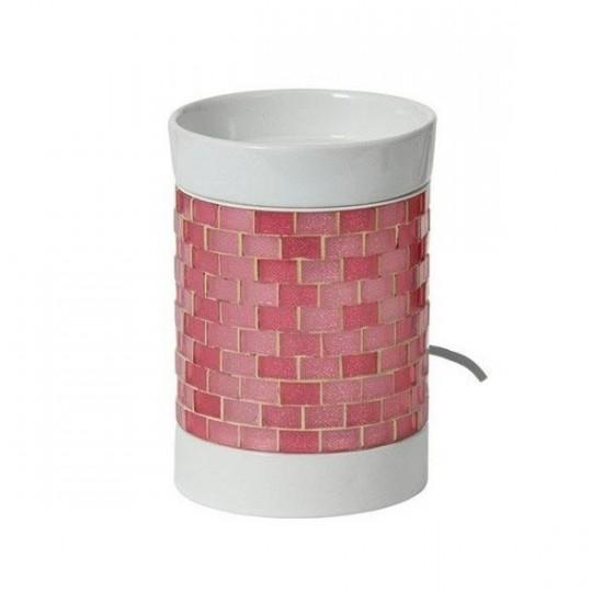 Glitter Glow - kominek elektryczny do wosków - różowy