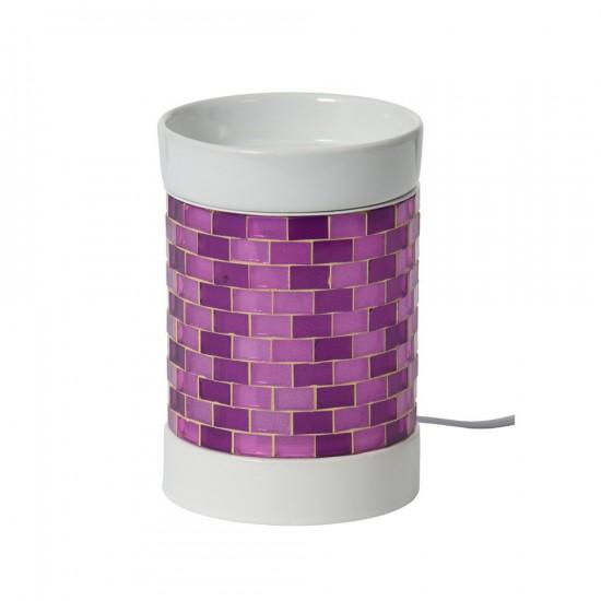 Glitter Glow - kominek elektryczny do wosków - fioletowy