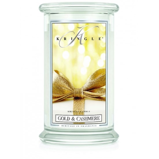 Duża świeca Gold & Cashmere Kringle Candle