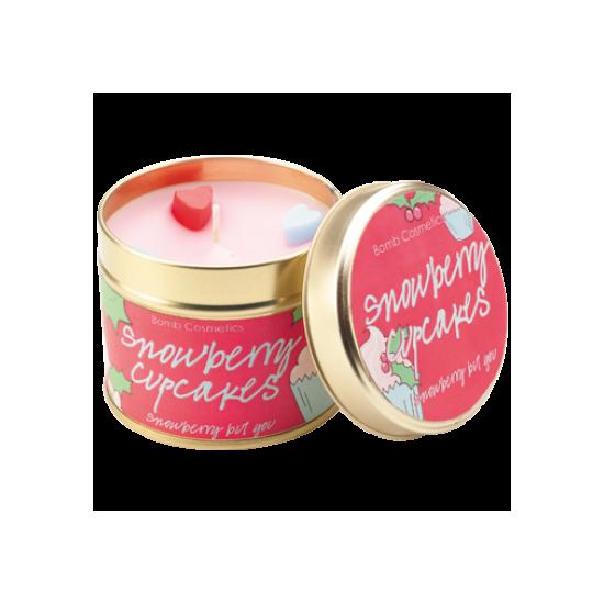 Świeca zapachowa w puszce ŚNIEŻNE BABECZKI – Bomb Cosmetics