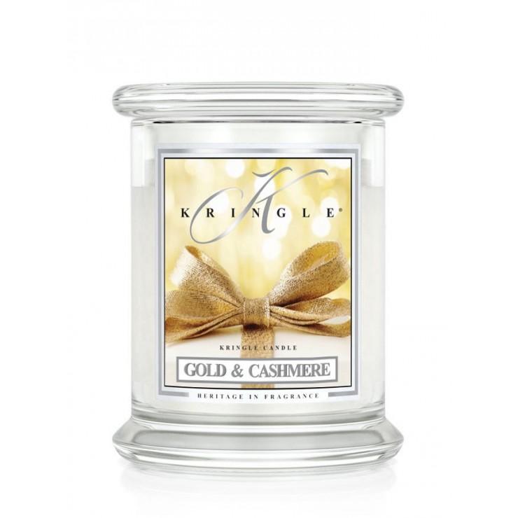 Średnia świeca Gold & Cashmere Kringle Candle