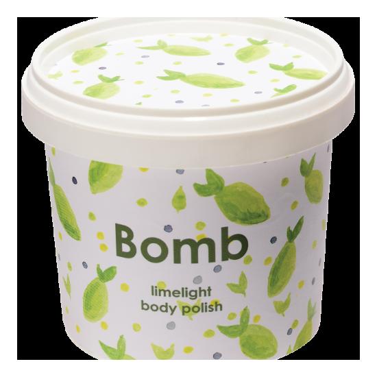 Peeling pod prysznic z masłem shea LIMONKA – Bomb Cosmetics