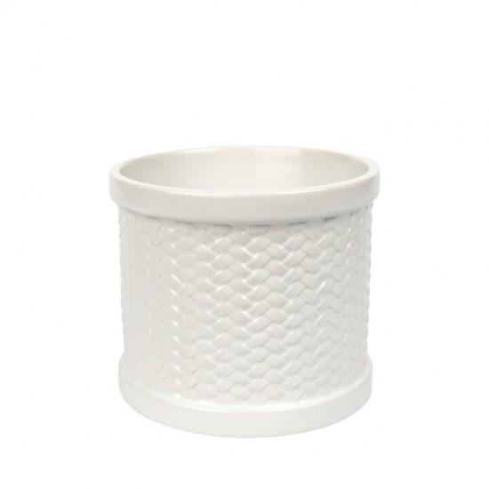 Scentrepiece Weave - kominek elektryczny do Melt Cup z timerem - biały