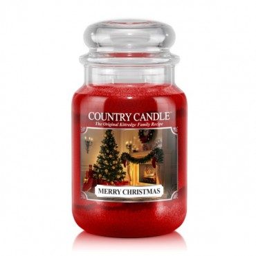 Duża świeca Merry Christmas Country Candle