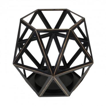 Świecznik do dużej świecy Geometric WoodWick