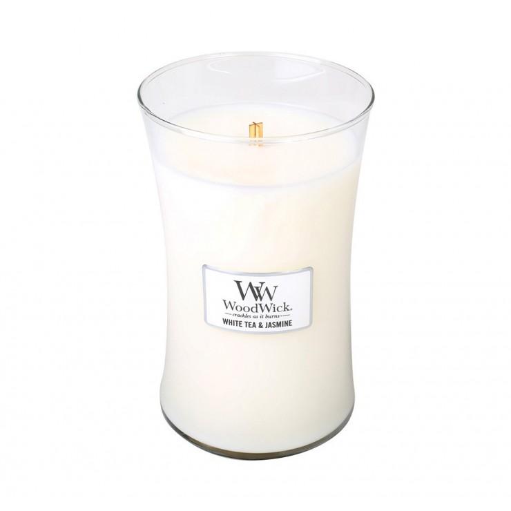 Duża Świeca White Tea & Jasmine WoodWick