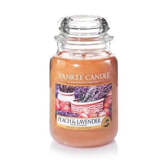 Duża świeca Peach & Lavende Yankee Candle