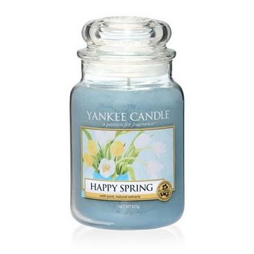 Duża świeca Happy Spring Yankee Candle