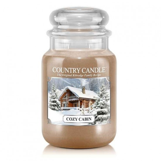 Duża świeca Cozy Cabin Country Candle