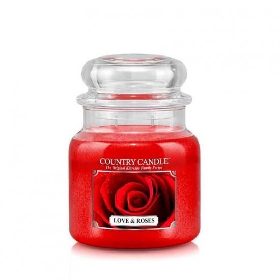 Średnia świeca Love & Roses Country Candle