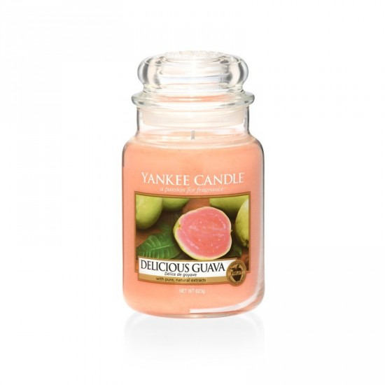 Duża świeca Delicious Guava  Yankee Candle