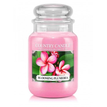 Duża świeca Blooming Plumeria Country Candle