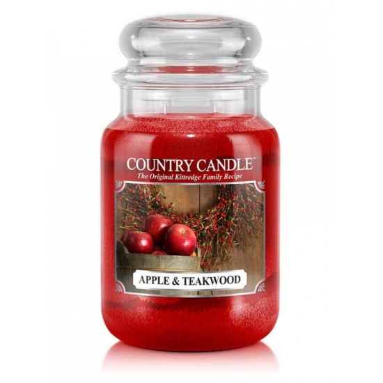 Duża świeca Apple & Teakwood Country Candle