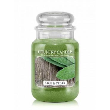 Duża świeca Sage and Cedar Country Candle