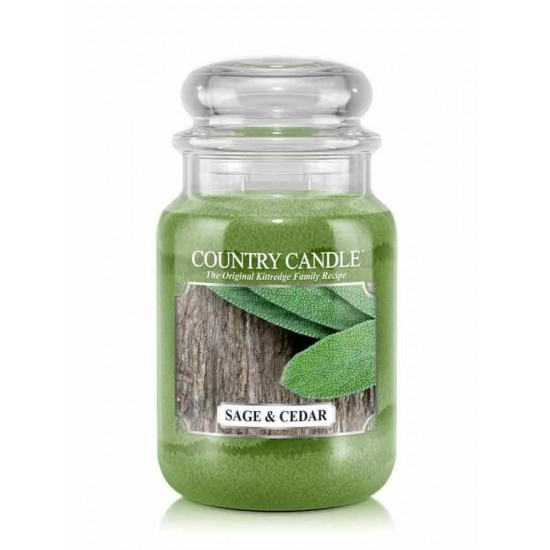 Duża świeca Sage and Cedar Country Candle