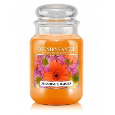Duża świeca Sunshine & Daisies Country Candle