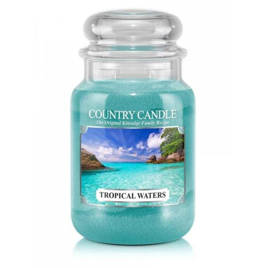 Duża świeca Tropical Waters Country Candle