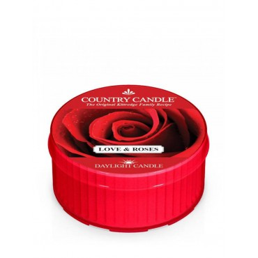 Daylight świeczka Love & Roses Country Candle