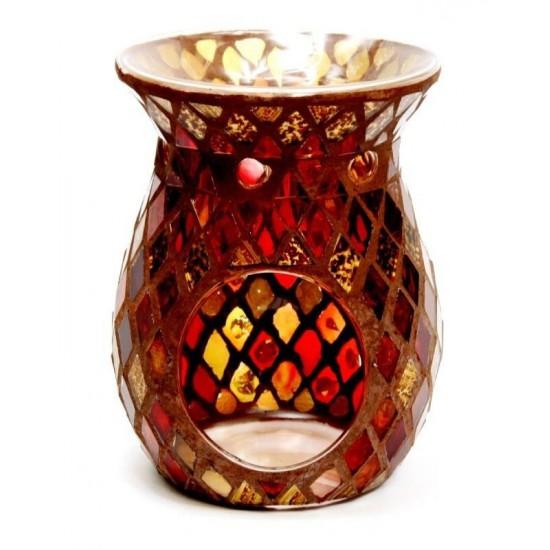 Kominek Mozaika (czerwono-złota)