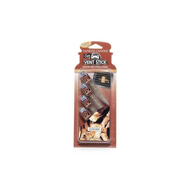 Car Vent Stick Leather Yankee Candle