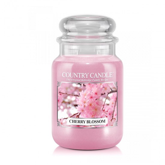 Duża świeca Cherry Blossom Country Candle