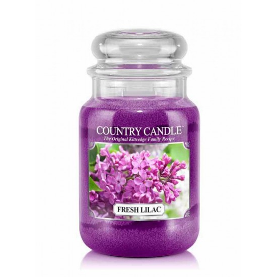 Duża świeca Fresh Lilac Country Candle