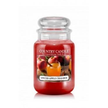 Duża świeca Spiced Apple Chai-der Country Candle