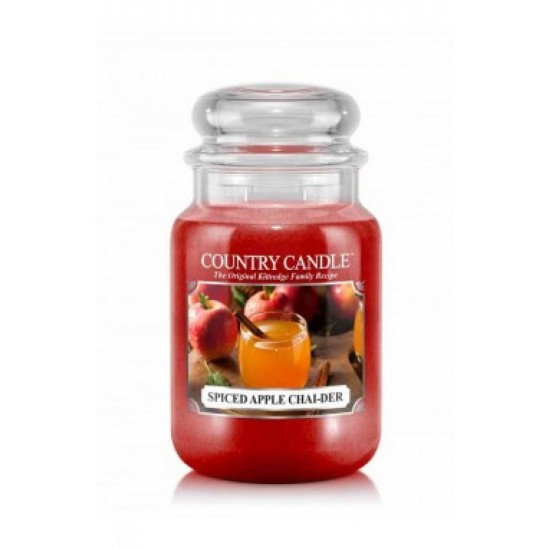 Duża świeca Spiced Apple Chai-der Country Candle