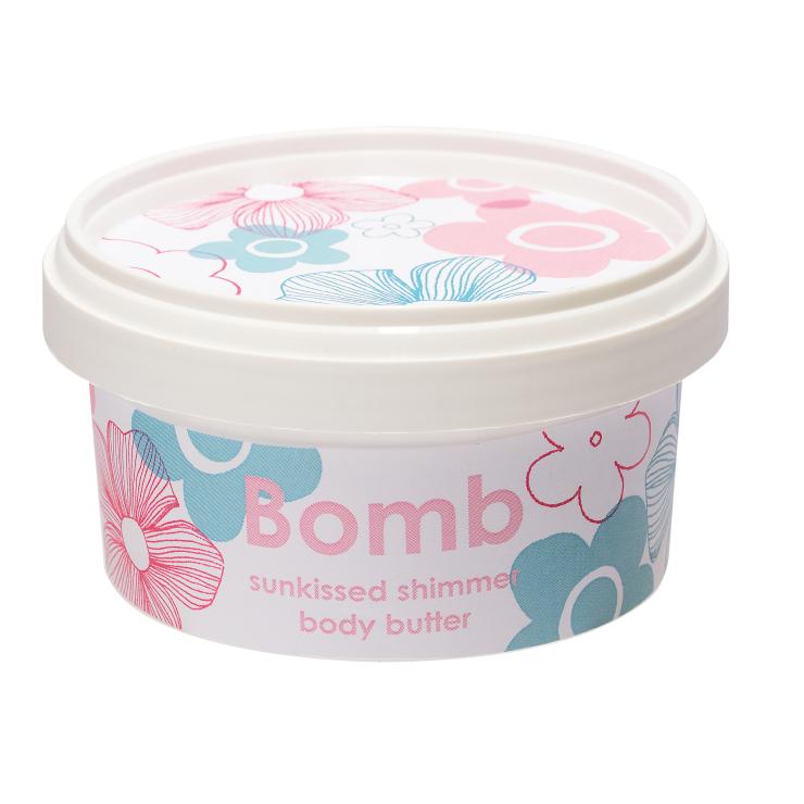 Masło do ciała z 30% Shea POCAŁUNEK SŁOŃCA z połyskiem Bomb Cosmetics