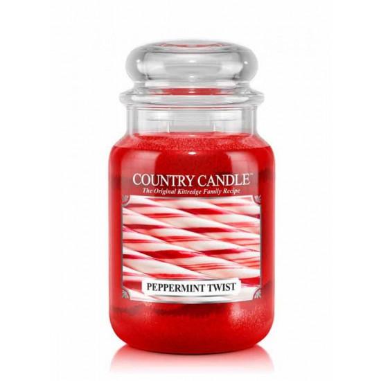 Duża świeca Peppermint Twist Country Candle