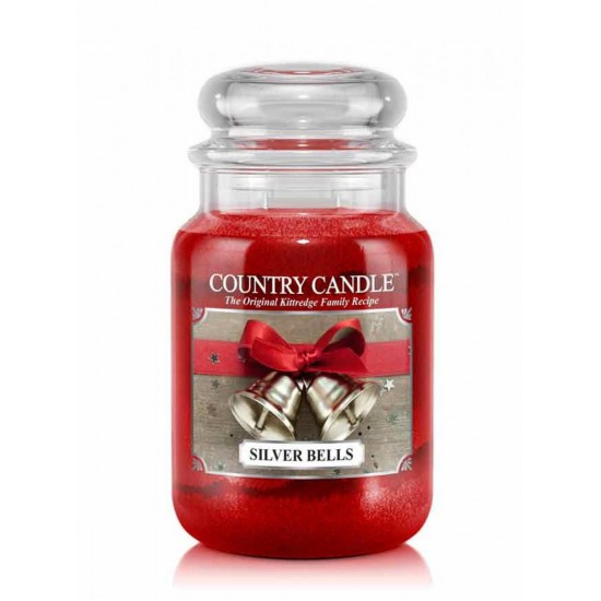 Duża świeca Silver Bells Country Candle