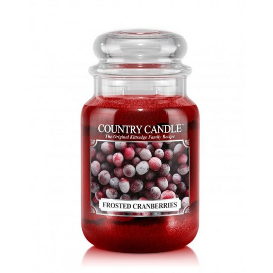 Duża świeca Frosted Cranberries Country Candle